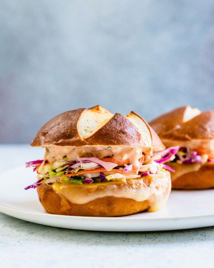 Coleslaw & Swiss Melt Sandwich