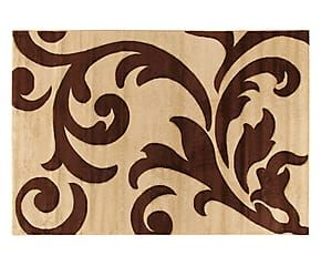 Tappeto effetto floreale Palace beige/marrone - 80x150 cm