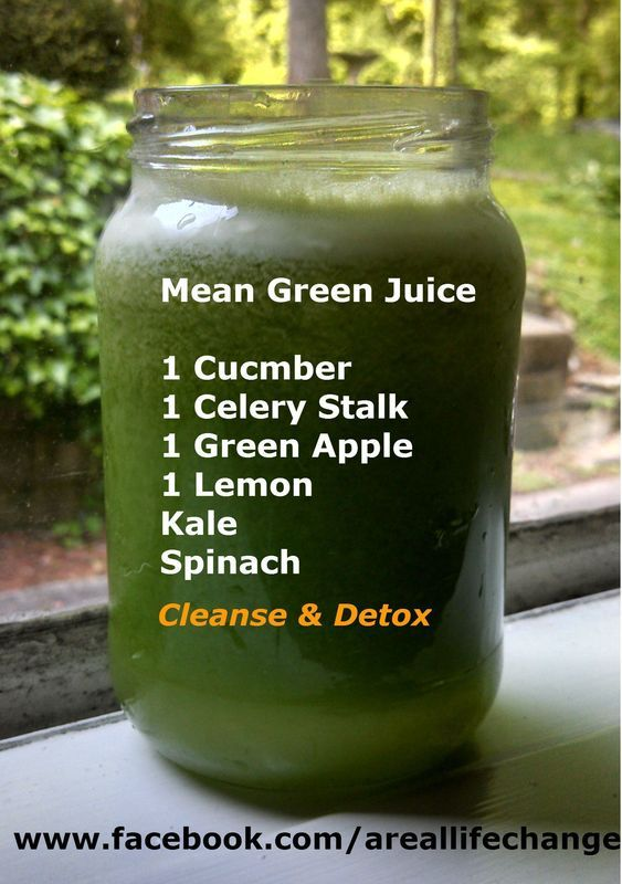Mean Green Juice Smoothie for Weight loss.