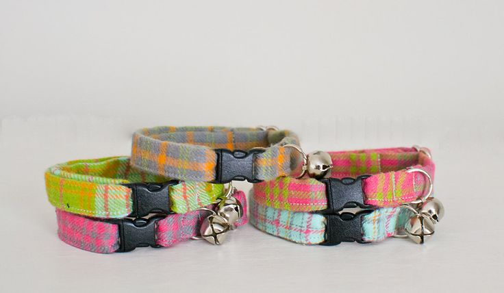 Cat Collar-Breakaway Cat Collar-Plaid Cat Collar-Flannel Plaid Cat Collar-Boy Cat Collar-Girl Cat Collar-Soft Cat Collar-Custom Cat Collar by SLWdesignsCo on Etsy