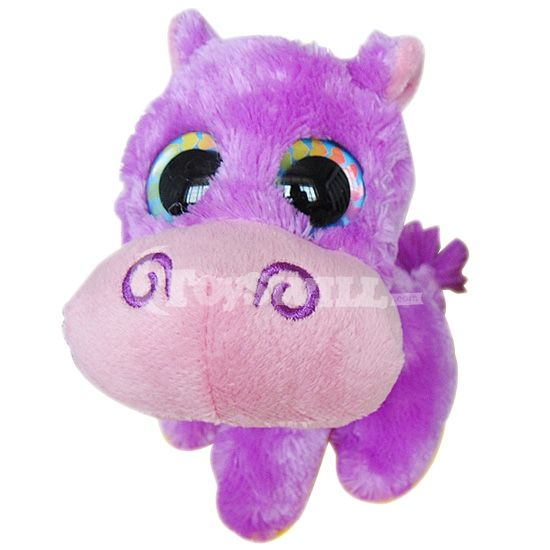 Lovely Hippo Toy Big Eyes for Sale   TY Beanie Boos Purple Hippo Stuffed Doll