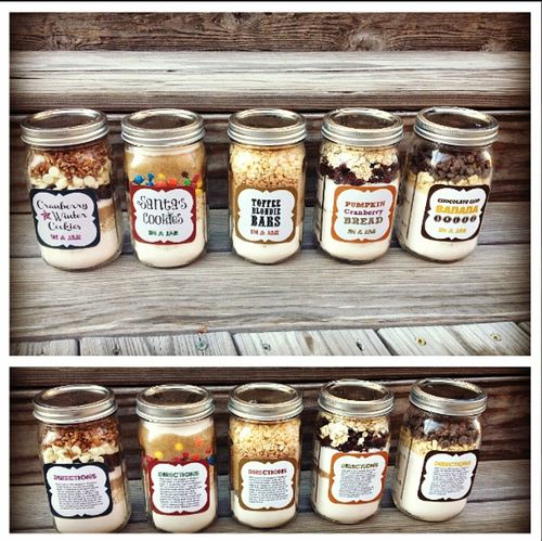 Cookie receipt in a jar DIY