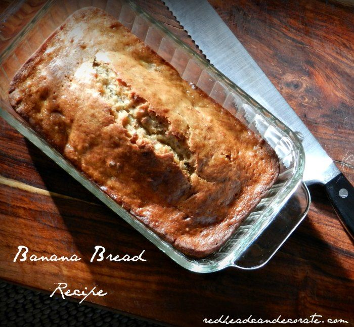 Easy Banana Bread --- making this right now for the week…it makes 2 loaves and it's perfect for on the go.