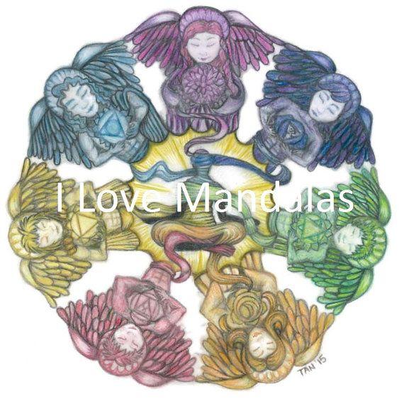 Virtues Mandala by TaniaLovesMandalas on Etsy