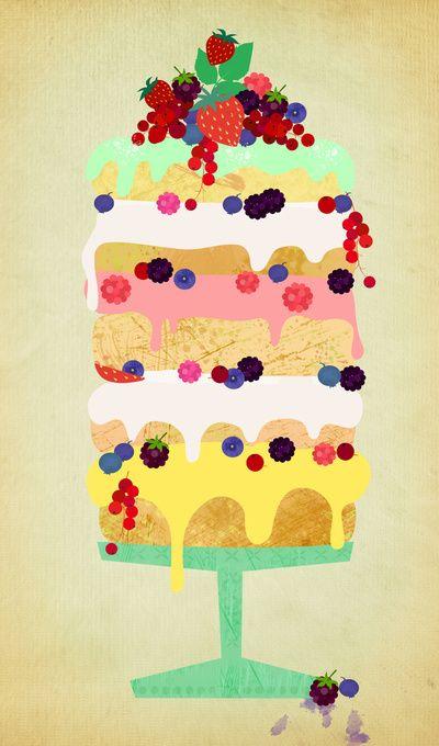 Fairy Cake  - Art Print by Elisandra/Society6
