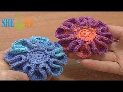 Botón Crochet Lección 5 Parte 1 de 2 botones de flor de punto