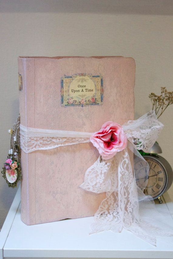 Shabby chic blush pink photo album with by LotusBluBookArt on Etsy,$263.45+