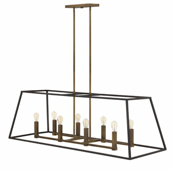 Purchase The Fulton Linear Chandelier For Your Dining Room Or Kitchen Lighting Today