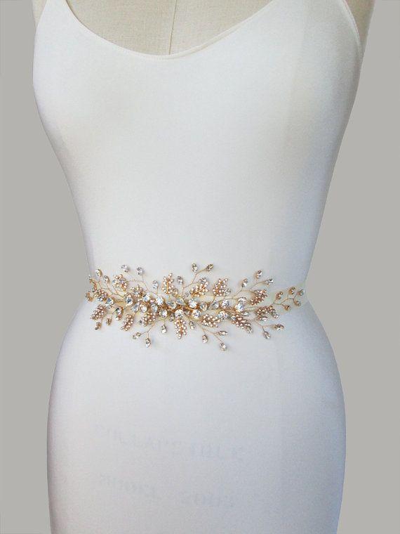 Wedding belt Bridal crystal belt Swarovski by SabinaKWdesign