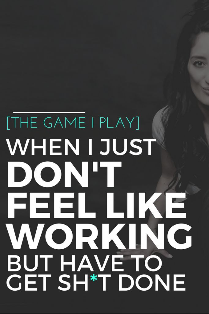 THE GAME I PLAY WHEN I JUST DON'T FEEL LIKE WORKING - Stephanie Joanne