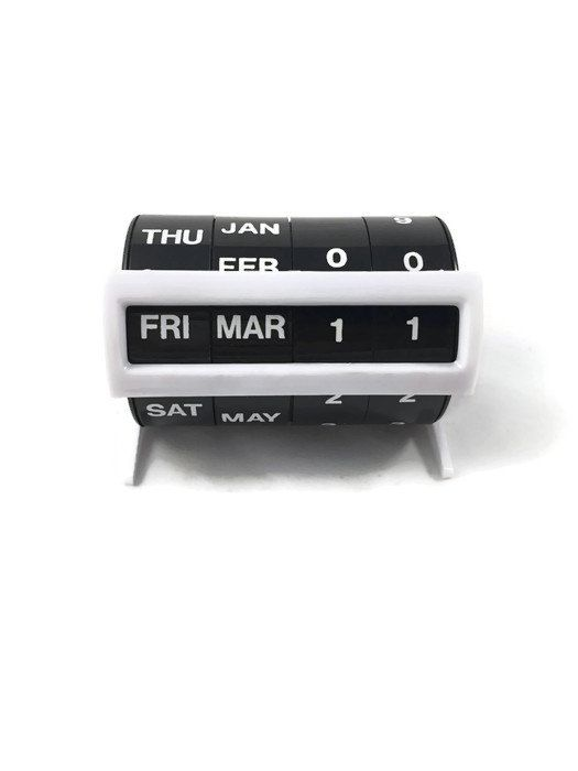 Vintage Perpetual Desk Calendar  Black and White by PastTastic
