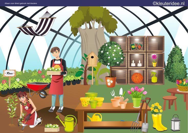 Interactieve praatplaat thema tuincentrum by juf Petra van kleuteridee