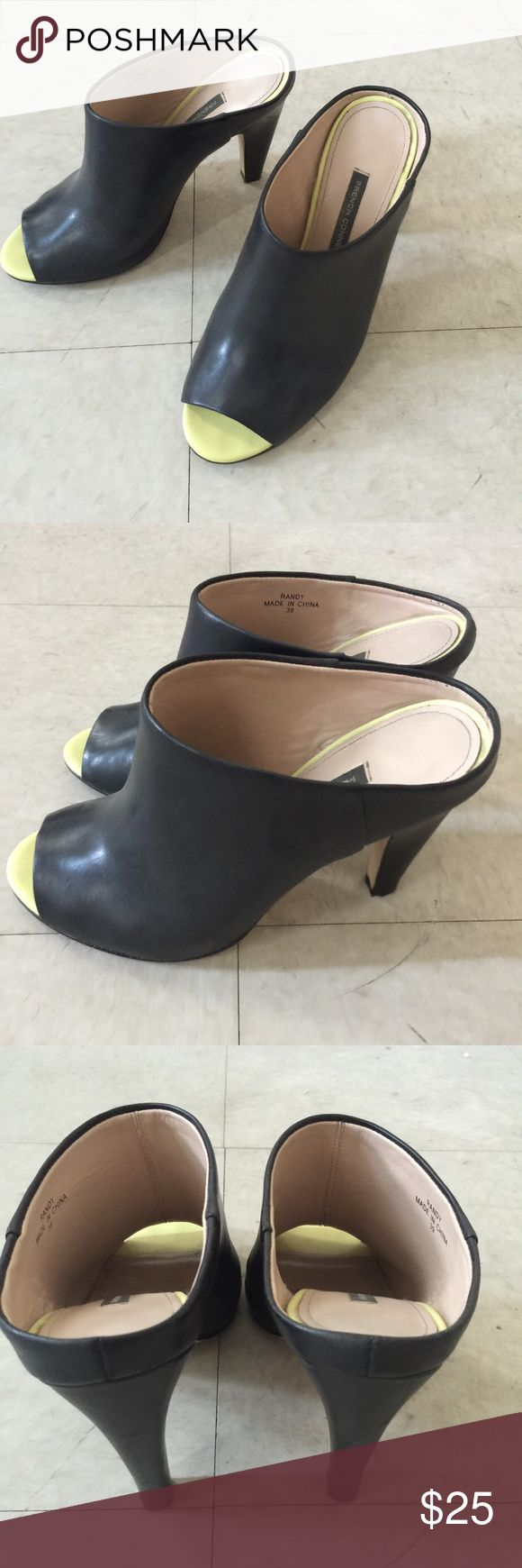 French Connection Randy Peep toe Mules Worn a couple times for photo shoots. French Connection Shoes Mules & Clogs