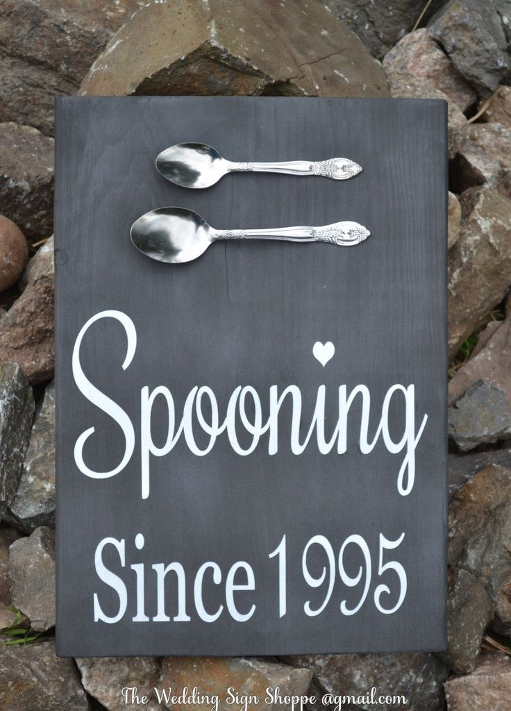 Chalkboard Wedding Sign Spooning Since Wedding Wall Art Personalized Wedding Gift Kitchen Decor Wood Signage Anniversary Couples Shower Gift