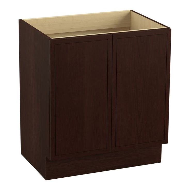 "Kohler K-99502-TK Jacquard 30"" Vanity Cabinet Only - Toe Kick Installation Type Cherry Tweed Fixture Vanity Single"
