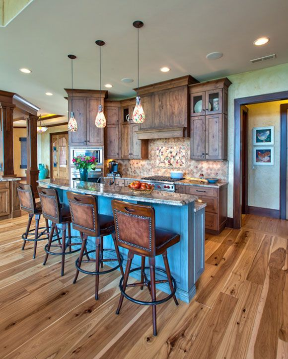 Love the colour themes for a western kitchen/bar