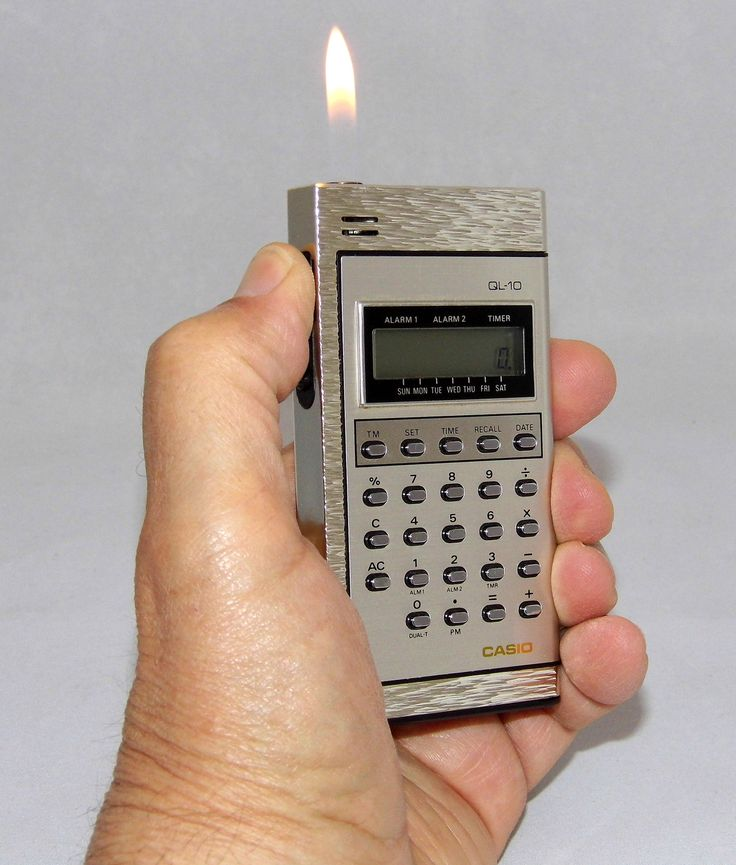 https://flic.kr/p/MzqMha | Vintage Casio Combination Calculator & Cigarette Lighter, Model QL-10, Uses Butane Gas And Piezo Ignition, Made In Japan, Circa 1978