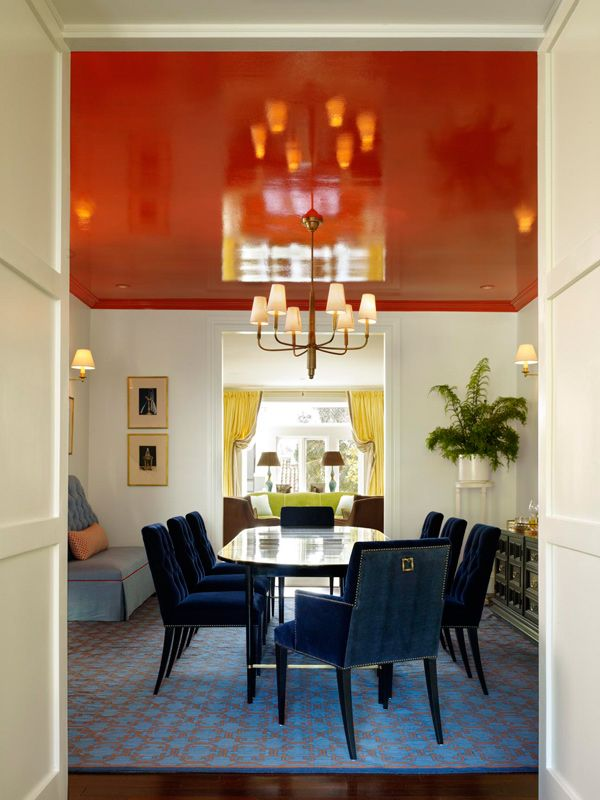 San Francisco Home With Color And Pattern Dining Room Design Dining Room Blue Decor