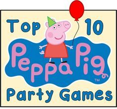 Our top 10 Peppa Pig party games are just what you are looking for to take your child's Birthday to the next level of fun.