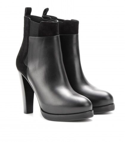 #Balenciaga Leather and suede ankle boots