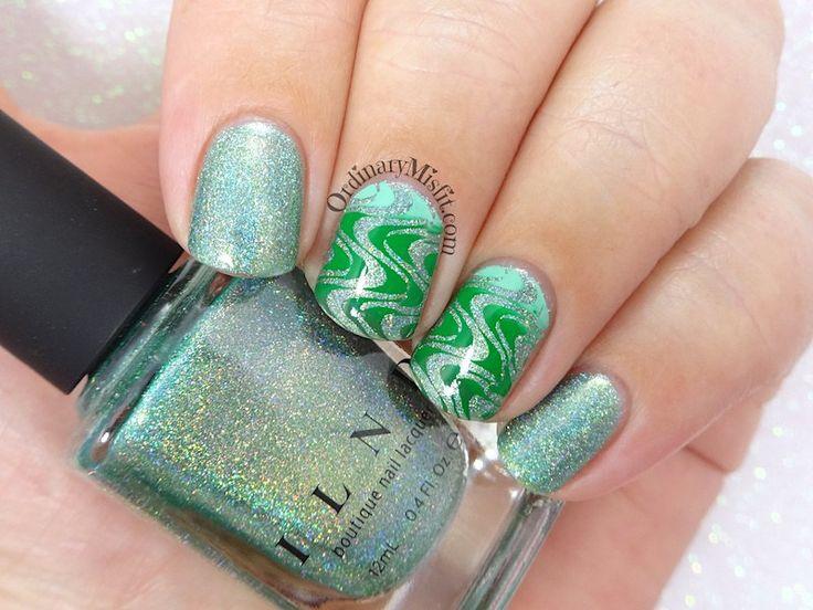 52 week nail art challenge - Week 38: Green