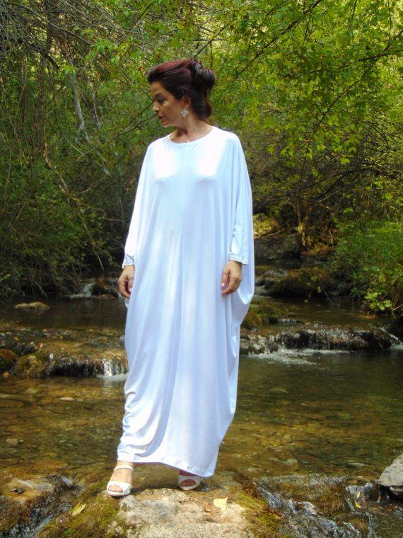 Engel Kleid/weiß Abaya Dress/Plus Größe Kaftan von AzaliaCult