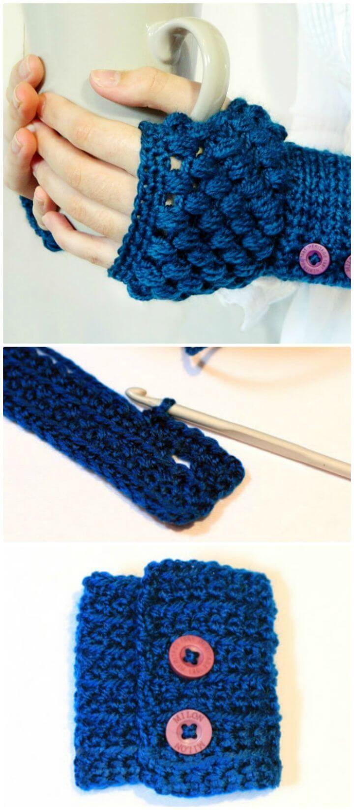 54 Free Crochet Fingerless Gloves Pattern For Beginners Crocheting