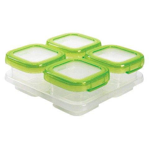 OXO Tot 4oz Baby Blocks Freezer Storage - Green