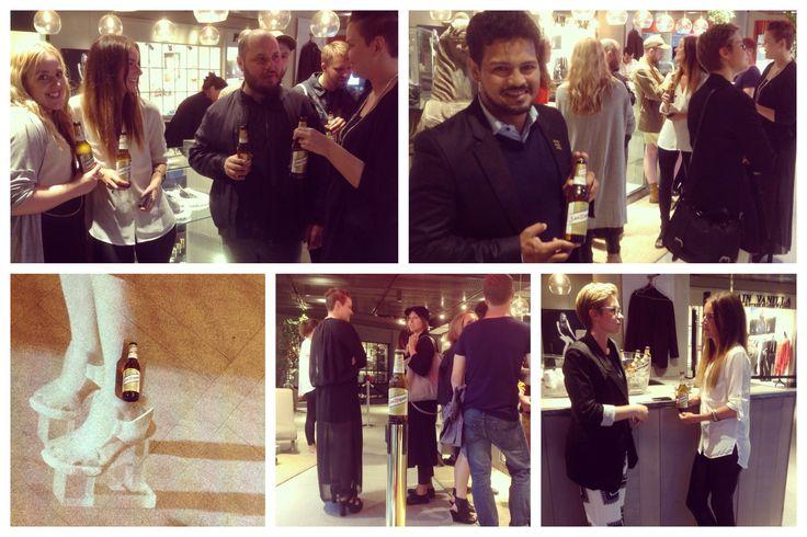 Vi ordnade så att San Miguel var med i Shoise utställning på Mood Stockholm
