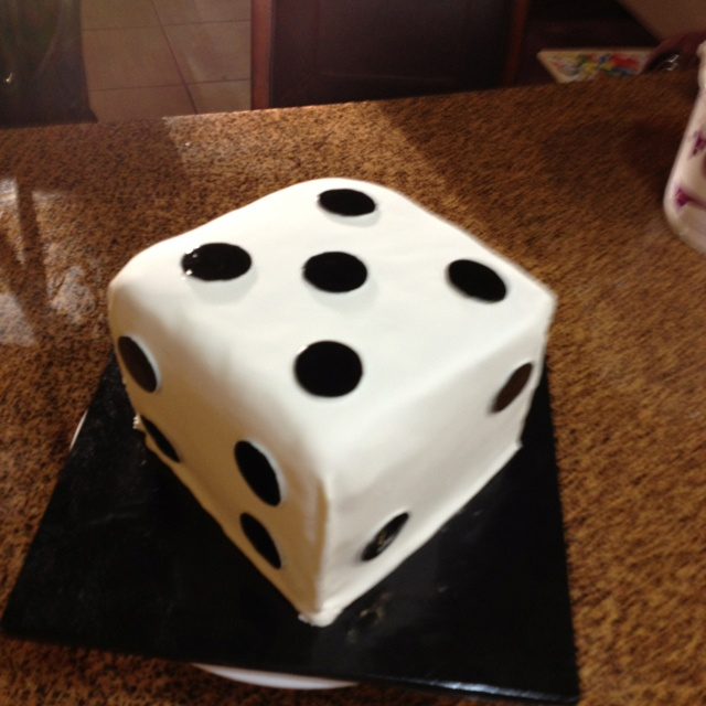 Dice birthday cake