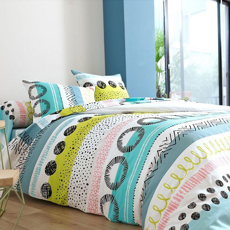 linge de lit acapulco en coton collection maison blancheporte pe17 linge de maison. Black Bedroom Furniture Sets. Home Design Ideas