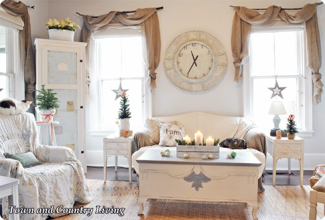 town and country living christmas in the family room Stylish Kitchen Curtains kitchen curtain valances ideas