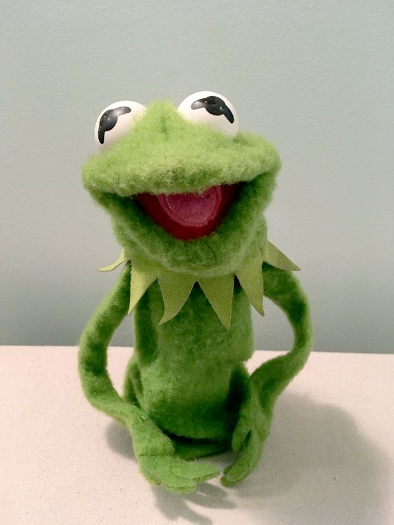 Vintage Kermit The Frog Hand Puppet for sale on Etsy.