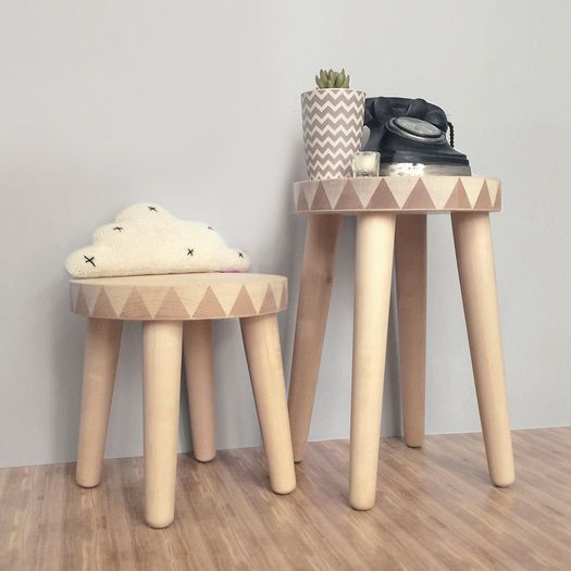 SMALL BIRCH STOOL