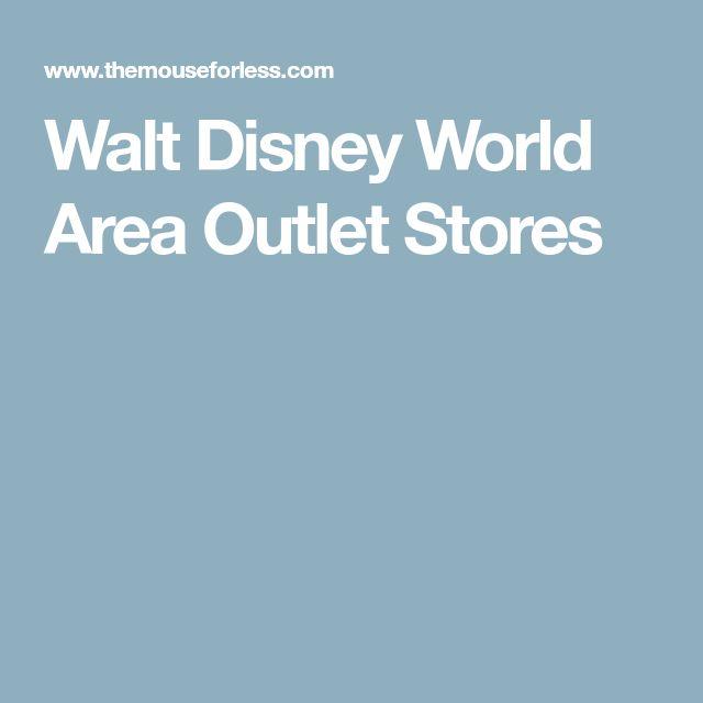 Walt Disney World Area Outlet Stores