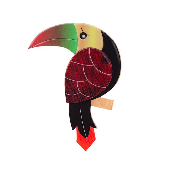 Erstwilder Terrence Toucan Brooch available from BarKATtheMeow.com
