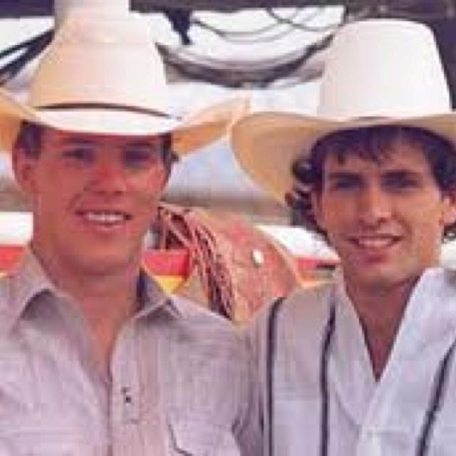 Lane Frost and best friend Tuff Hedeman so sad Lane's life was cut short so soon
