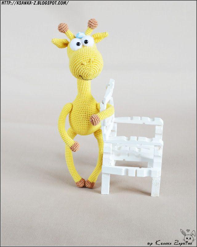 Вязаный жираф. Crochet giraffe