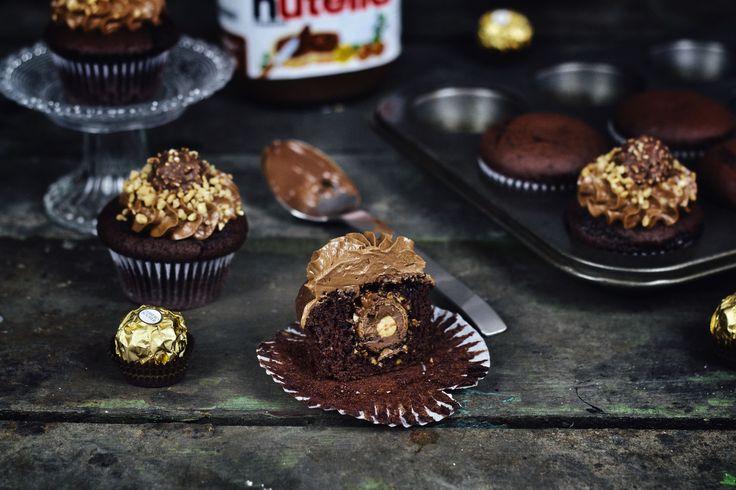 Nutella-Rocher Cupcakes_Rezept_Backen