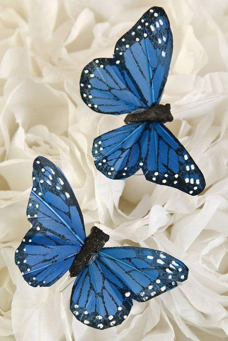 3'' BUTTERFLY BLUE PKG/12 | Butterfly ornaments, Butterfly ...