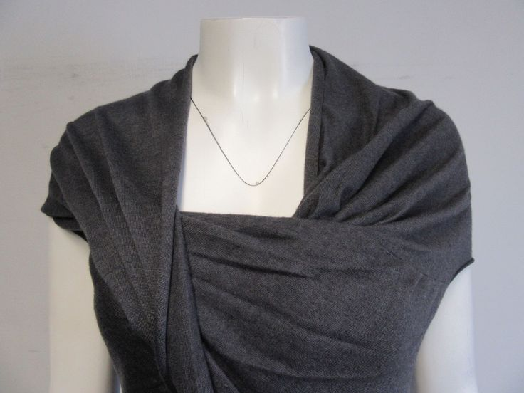 Brunello Cucinelli grey cashmere short- sleeve draped knit long top sz s/m | Clothing, Shoes & Accessories, Women's Clothing, Sweaters | eBay!