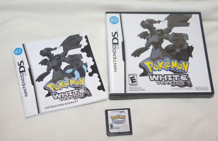 Pokemon White Version Nintendo DS Game w/ Box & Manual Tested Works #Nintendo #pokemon