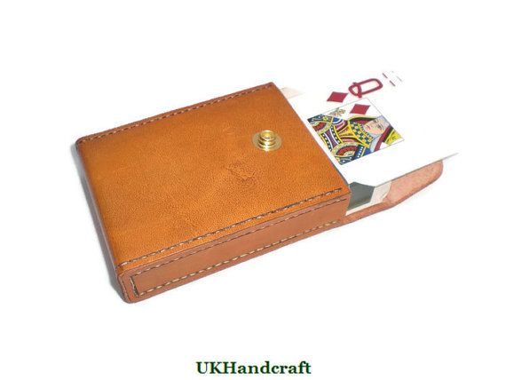 Leather Playing Card SetLeather Casino Quality by UKHandcraft