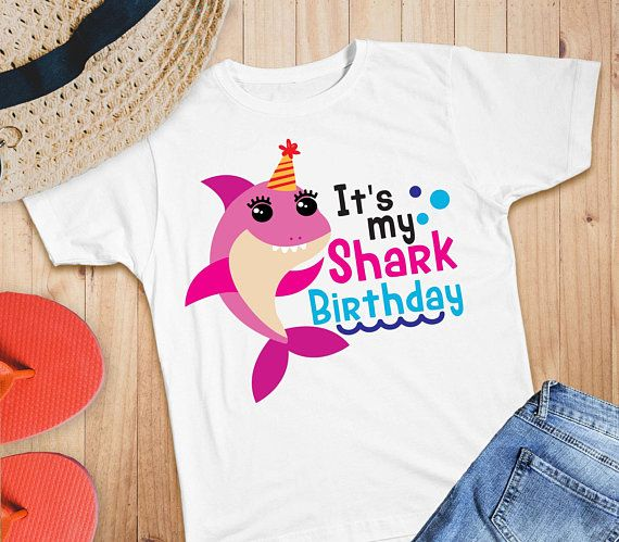 Family Shark Iron On Baby Birthday Shirt Sister