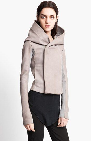 Rick Owens Hooded Leather Biker Jacket | Nordstrom for chrismas please!!! I just love it! adore it!
