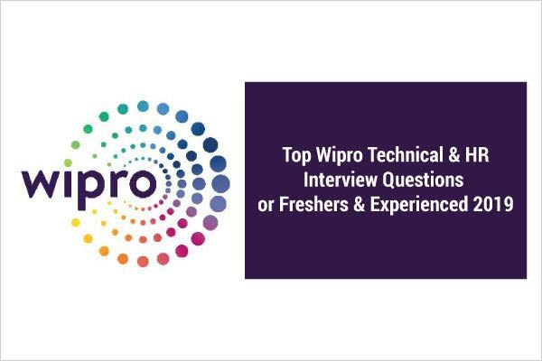 Top Wipro Technical Hr Interview Questions For Freshers