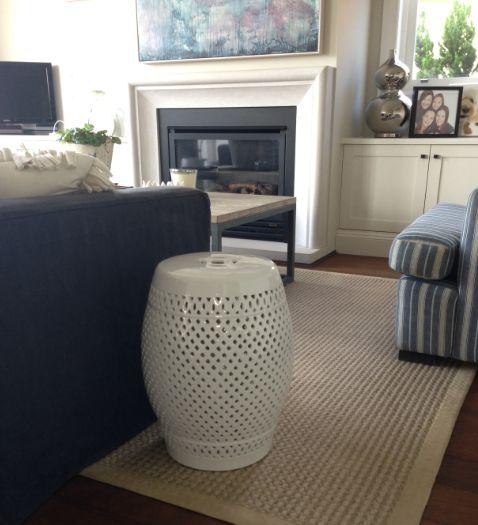 Ceramic Stool - lattice.