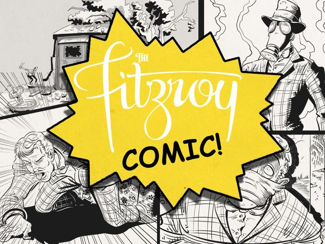 The Fitzroy comic logo!