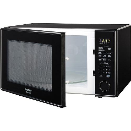 Sharp Carousel 2 Cu Ft 1200w Countertop Microwave Oven Black