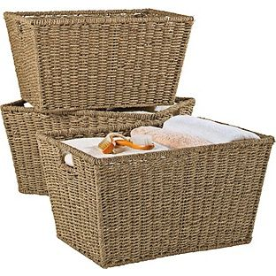 Buy Set of 3 Large Seagrass Storage Baskets - Natural at Argos.co.uk - Your Online Shop for Storage baskets and boxes.